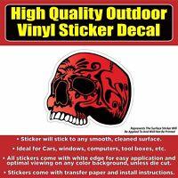 Red skull Vinyl Car Window Laptop Bumper Sticker Decal