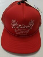 Billabong New Upgrade Padded Trucker Snapback Hat Men's Size OSFA Red