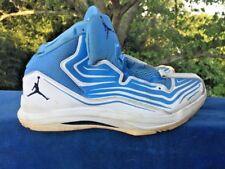 Nike Jordan Aero Mania Mens Size 11 UNC TARHEELS White Carolina Blue 552313 👠