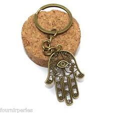 FP Porte-clés Porte-clef Breloque Main de Fatma Bronze Fantaisie Tendance