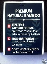 9 Pairs CHAPS Fine BAMBOO Smooth Toe Men SOCKS  Natural Antibacterial 8-12 Black