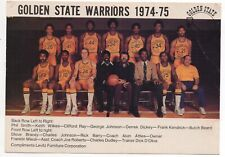 1974-75 Golden State Warriors Team Photo Signed on back