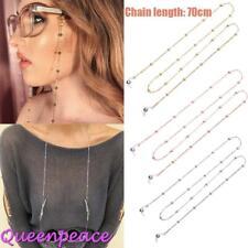 Women Eye Glasses Sunglasses Spectacles Eyewear Bead Chain Lanyard Necklace