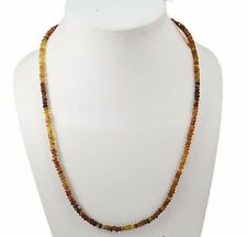 """Handmade Petrol Tourmaline 3-4 mm Rondelle Micro Faceted 18"""" Beaded Necklace"""