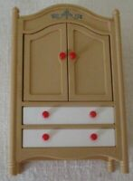 Vintage TOMY  ARMOIRE Wardrobe Closet w/drawers doll house miniature~Japan