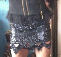 AJE Black Barnacle Catara Skirt Sz 8