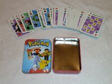 Nintendo 1999 Pokemon Deck of Playing Cards & Tin Bicycle Licensed Product Boxed