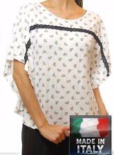 Polka Dot Regular Size Batwing, Dolman Sleeve Tops for Women