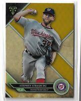 2017 Topps triple threads baseball Gold parallel Stephen Strasburg 91/99