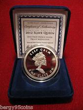 "Silver Bullet Silver Shield 2012 ""SLAVE QUEEN"" - 1 oz Silver Proof Medallion"