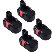 4pcs 18 Volt Drill Battery for Bosch 2 610 909 020 BAT181 1662K-24 1644-24