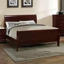 Louis Phillipe Sleigh Bedroom Set Cherry Finish 1Pc King Size Bed Furniture Home