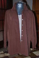 Tunique,chemise longue brune manches longues Très Mode Taille 40/42 comme NEUVE!