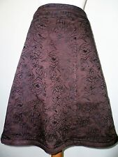 Oasis brown skirt jacquard embroidery size 12