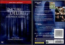 INCUBI E DELIRI III (Stephen King) - DVD NUOVO E SIGILLATO, PRIMA STAMPA, RARO!