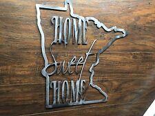 Minnesota State Outline Home Sweet Home Metal Wall Art Home Decor