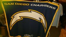 New Nfl Authentic Genuine Licensed San Diego Chargers 65 X 54 Fleece Blanket