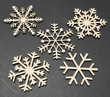 Snow flake 5 pack MDF craft shape model christmas tree decoration