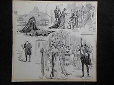 Original 1900 S A H Robinson lllustration - La Tosca, Opera, Theatre Graphic