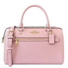 NWT COACH Rowan Satchel Crossbody Shoulder Bag Classic Zip Blossom Pink 79946