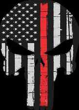 """Punisher Logo Thin Red Line Decal/Sticker 