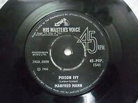 "MANFRED MAN 45 POP 1541 RARE SINGLE 7"" INDIA INDIAN 45 rpm VG+"