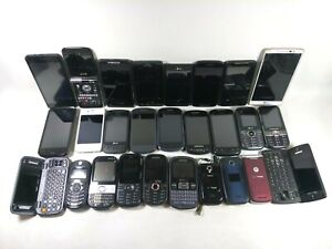Lot of 27 Cell Phones Smartphones Various Models AS-IS for Gold Scrap Parts Only