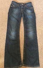 MAVI WOMENS ZOE Dark Wash Boot Leg Denim Jean Pants Size 27/32