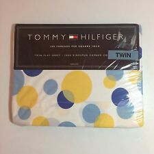 Tommy Hilfiger Twin Fitted Polka Dots Bed Sheet - 100% Cotton - NEW