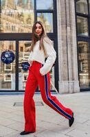 ZARA SS18 RED TROUSERS WITH SIDE STRIPE SIZE S M L Ref. 2267/778