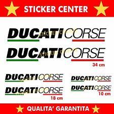 6 ADESIVI DUCATI CORSE MOTO CARENA CODONE SERBATOIO decal sticker