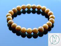 Wooden Jasper Natural Gemstone Bracelet 7-8'' Elasticated Healing Stone Chakra
