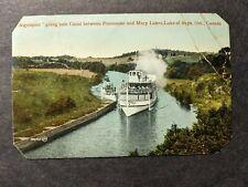 1913 Canadian Steamer ALGONQUIN Naval Cover HUNTSVILLE, ONTARIO CANADA Postcard