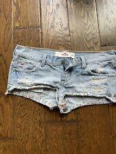 Hollister Light Blue Jean Shorts Women Size 3 W26