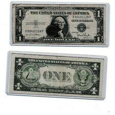 1943 Steel cent/penny 1935 $1 Silver Certificate Blue Seal Note, 1 each