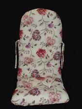 "Rocking Chair Edition Cushion "" White Flower Pink "" German Manufacturing"