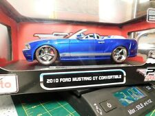Maisto Pro Rodz Ford Mustang Gt Convertible 1:18 Scale Die Cast Blue & Silver