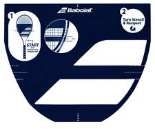 Babolat Tennis Racket String Stencil Card Logo - Free P&P