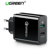 Ugreen QC3.0 2.0 USB Wall Charger Dual USB 4 Ports Fast Charging for Samsung S8