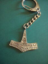 thor's hammer viking symbol  pewter keyring NEW re-enactment larp