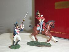 Britains Waterloo British 1st Royal Dragoon Captain & French 105th Set 36081