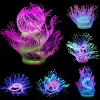 Glowing Artificial Coral Silicone Sea Anemone Aquarium Fish Tank Decor Ornaments