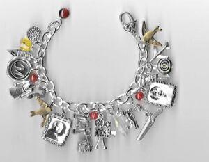 ALFRED HITCHCOCK Inspired Charm Bracelet  Altered Art  Bag  Master of Suspense