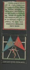 1935 Diamond Football Matchcover College Rivals #10 Notre Dame-Southern Calif