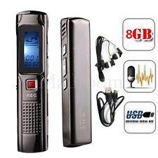8GB Steel Stereo recording Mini Digital Audio Voice Recorder Mp3 player FM tuner