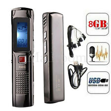 8GB Stahl Stereoaufnahme Mini Digital Audio Voice Recorder Mp3-player FM tuner