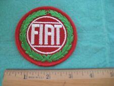 Vintage  Fiat Dealer  Racing Uniform Hat Patch
