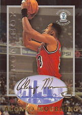 ALONZO MOURNING 1997 STRONGBOX AUTOGRAPHED COLLECTION CARD! 7X ALL-STAR! HEAT!!