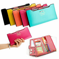 Women Ladies PU Leather Wallet Purse Handbag Case Card Holder Bag Clutch Zipper