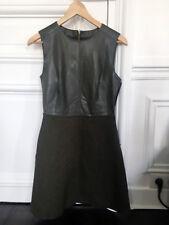 Zara, robe en similicuir, laine, couleur kaki, Taille S, 36, 38
